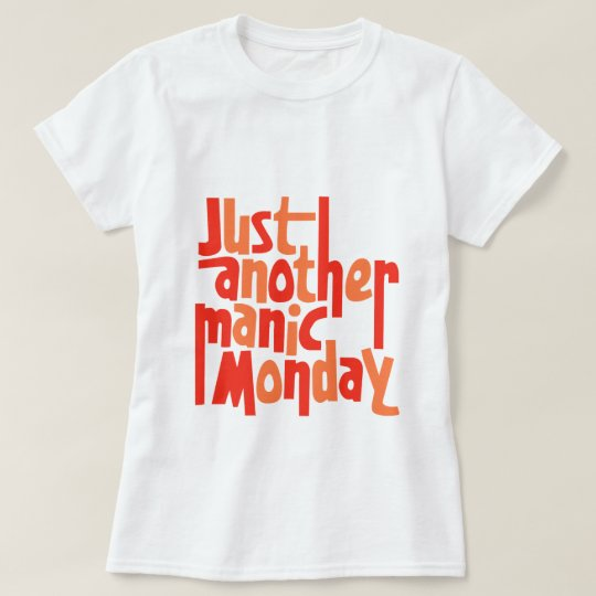 Manic Monday 80s Retro Pop Culture Typography T-Shirt