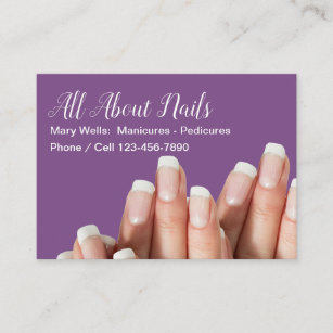 Nail pedicure business cards zazzle uk manicure pedicure nail professional business card colourmoves