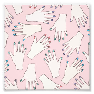 Manicured Hands Nail Studio Pink Pastel Pattern Photo
