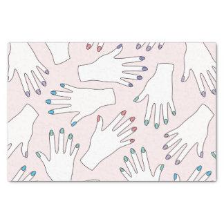Manicured Hands Nail Studio Pink Pastel Pattern Tissue Paper