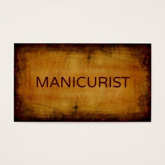 Manicurist Antique Brushed Business Card