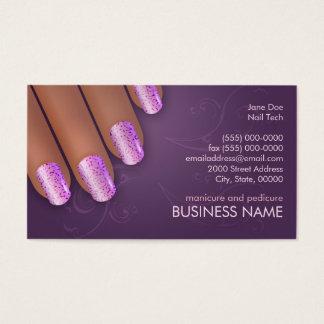 Manicurist Biz & Appointment Card in Dark Skin