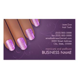 Manicurist Biz & Appointment Card in Dark Skin Pack Of Standard Business Cards