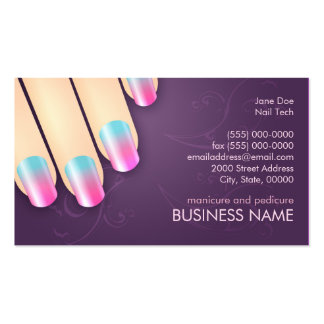 Manicurist Business & Appointment Card Template Pack Of Standard Business Cards