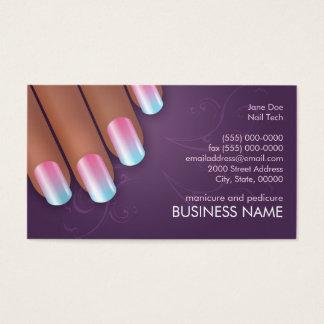 Manicurist Ombre Biz & Appointment Card in Dark