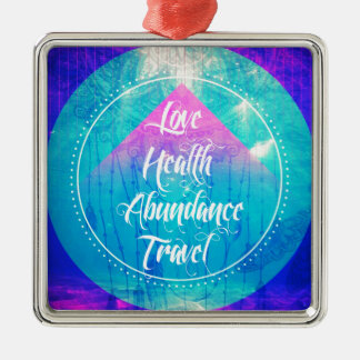 Manifesting Love Health Abundance Travel series Christmas Ornament