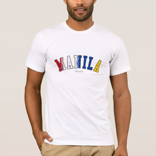 Manila in Philippines national flag colours T-Shirt