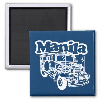 Manila Jeepney Square Magnet
