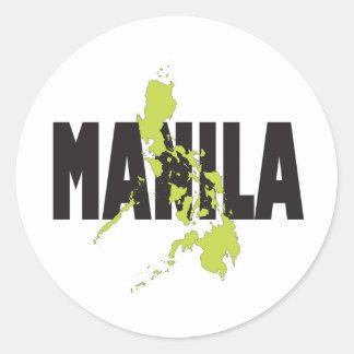 Manila, Philippines Classic Round Sticker