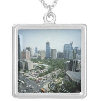 Manila Skyline Silver Plated Necklace