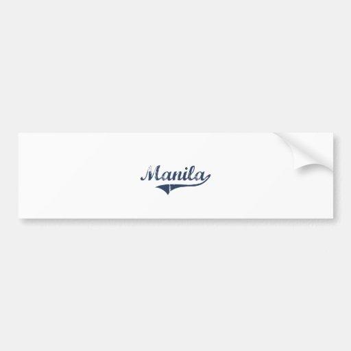 Manila Utah Classic Design Bumper Sticker