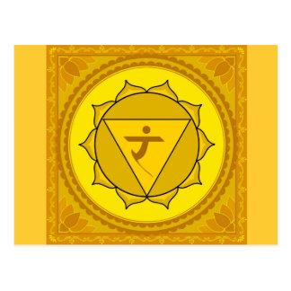 manipura or solar plexus chakra Postcard