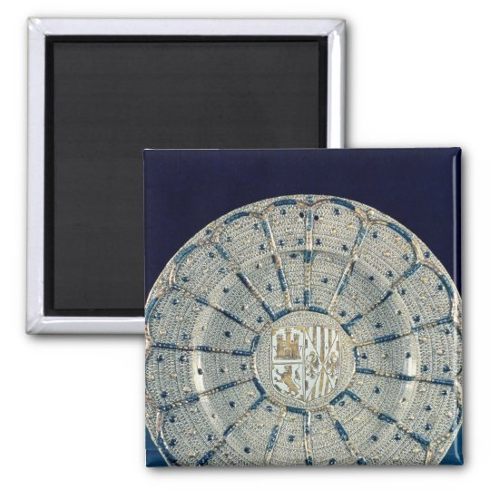 Manises dish, bearing the arms square magnet