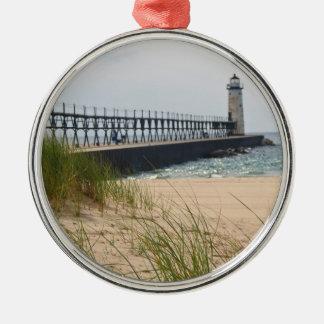 Manistee Lighthouse Christmas Ornament
