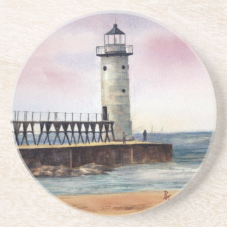 Manistee North Pierhead Lighthouse Coasters