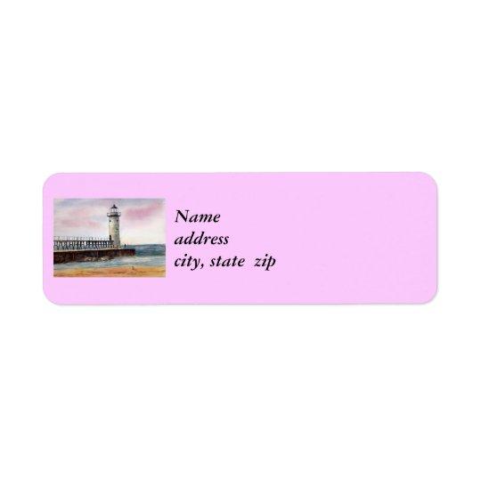 Manistee North Pierhead Lighthouse Return Address Return Address Label