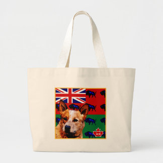 Manitoba Australian Cattle Dog Large Tote Bag