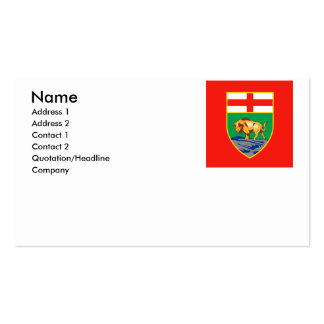 MANITOBA BUSINESS CARD TEMPLATE