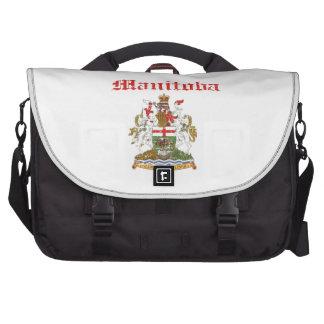 manitoba Canada coat of arms design Laptop Messenger Bag
