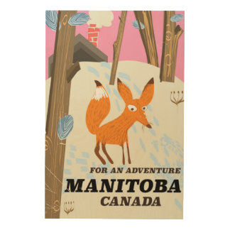 Manitoba Canada vintage style travel poster