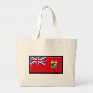 Manitoba Flag Canvas Bag