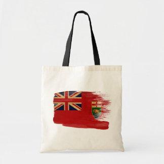 Manitoba Flag Canvas Bags
