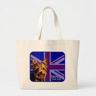 Manitoba Yorkie Jumbo Tote Bag