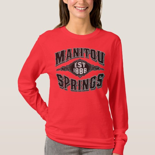 Manitou Springs 1888 Black & Silver T-Shirt