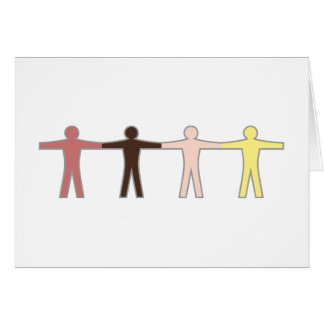 Mankind humans one child humans greeting card