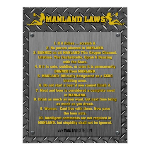 MANLAND LAWS Framed Print
