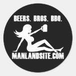 Manland Round Sticker!