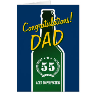 Manly Birthday card for men | Congratulations dad