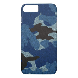 Manly Blue Camo Faux Cloth Camouflage Pattern Slim iPhone 8 Plus/7 Plus Case