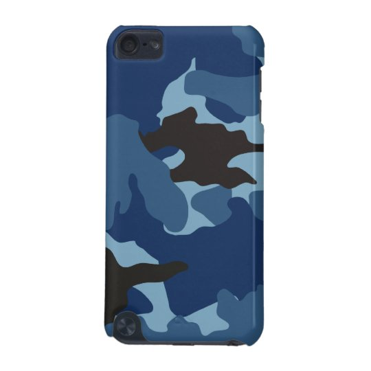 Manly Blue Camo Military Camouflage Pattern Tough iPod
