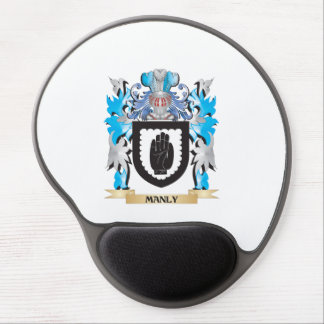 Manly Coat of Arms - Family Crest Gel Mouse Mats
