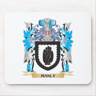 Manly Coat of Arms - Family Crest Mouse Pad