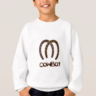 Manly Cowboy and Horse Shoes Sweatshirt