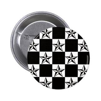 Manly Dark Stars Print 6 Cm Round Badge