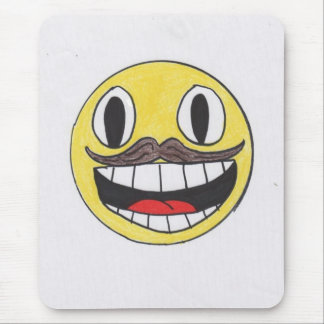 Manly Face Mouse Pad