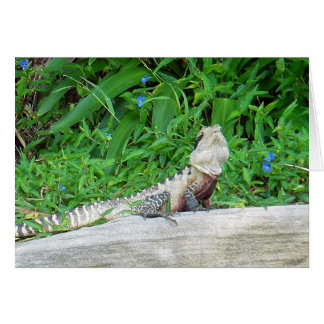 Manly Lizard Greeting Card