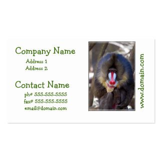 Manly Mandrill Pack Of Standard Business Cards