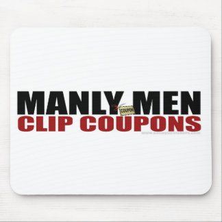 Manly Men Clip Coupons - Mousepad