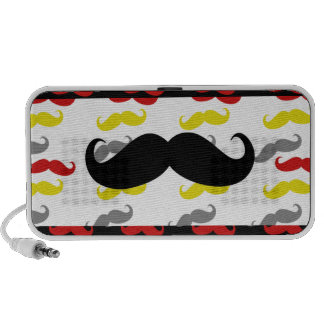 Manly Mustache Hair Colors iPod Speakers
