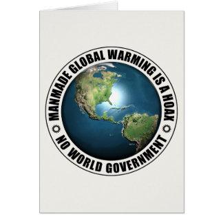 Manmade Global Warming Hoax Greeting Card