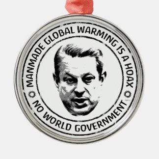 Manmade Global Warming Hoax Christmas Ornaments