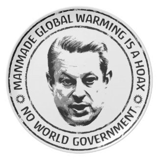 Manmade Global Warming Hoax Party Plates