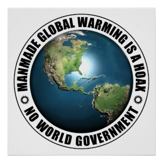 Manmade Global Warming Hoax Poster