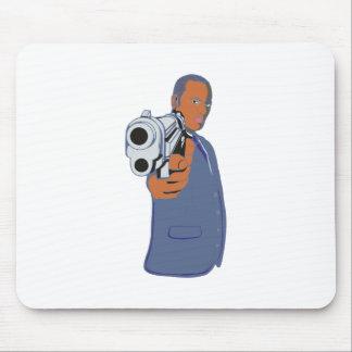 Mann Pistole man pistol Mousepad