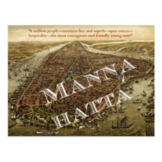 Mannahatta -- Whitman's Manhattan postcard