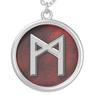 Mannaz Silver Plated Necklace